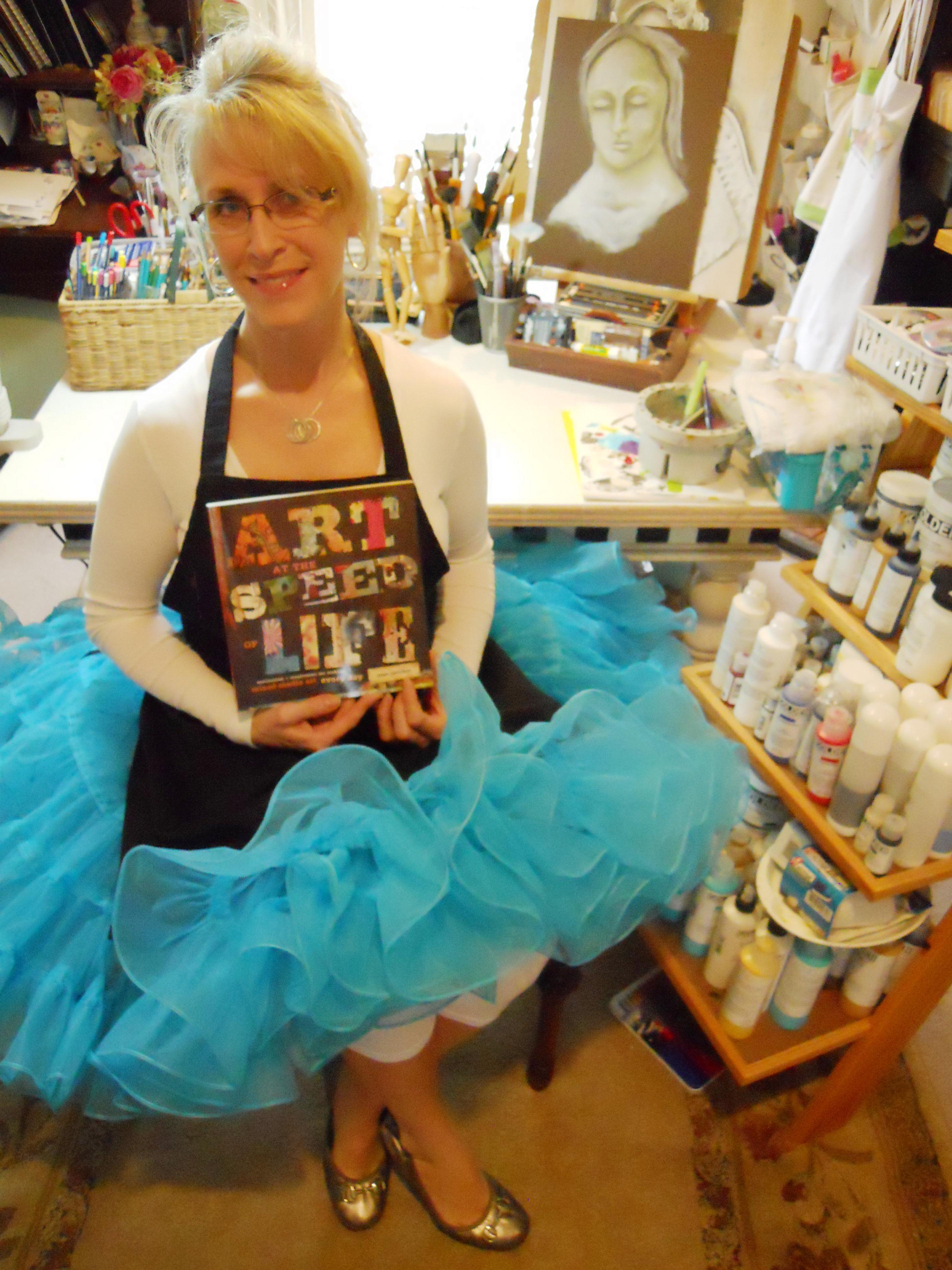 A tutu tutorial and happy dance art at the speed