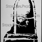 """Door to Heart Stencil S048 9x12 and 6""""x6"""""""