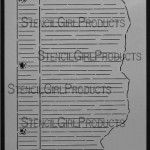 """Journal Notes Stencil S002 9x12 and 6""""x6"""""""