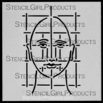 "4x4 Journal Prompt Face Stencil M018  4""x4"""