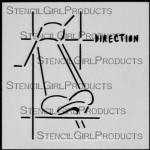 """4x4 Journal Sense Direction Stencil M025 4""""x4"""""""
