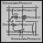 """4x4 Journal Prompt Profile Stencil M019 4""""x4"""""""