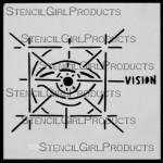 """4x4 Journal Sense Vision Stencil M022 4""""x4"""""""