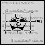 """4x4 Journal Sense Voice Stencil M023 Artist Designer 4""""x4"""""""