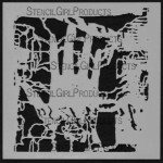 """6x6 Journaling Right Hand Stencil S055  6""""x6"""""""