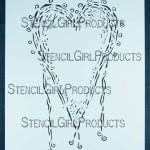 "Heart Stencil L032 6x6 and 9""x12"""