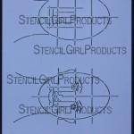 "Face Map Front Stencil L075  9""x12"""