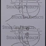 "Face Map 3/4 View Stencil L077 9""x12"""
