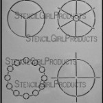 "4x4 Simple Color Wheels Stencil L151 9""x12"""