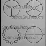 "4x4 Simple Color Wheels Stencil L151 9""x12"""