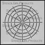"6x6 Hue Tint Tone Shade Outline Stencil S114  6""x6"""