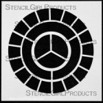 "6x6 Primary Secondary Tertiary Stencil S115 6""x6"""
