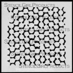 "4x4 Journal Texture #4 Stencil M029 4""x4"""