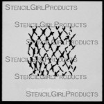 "4x4 Journal Texture #5 Stencil M030  4""x4"""