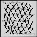 "4x4 Journal Texture #6 Stencil M031 4""x4"""
