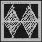 "4x4 Journal Texture #8 Stencil M033  4""x4"""