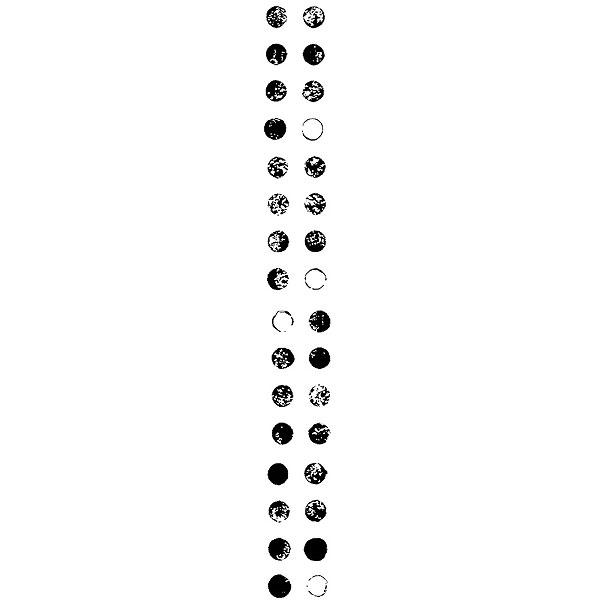 Columns of Dots